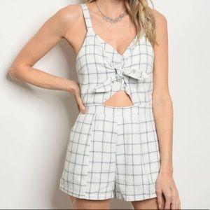 Dresses & Skirts - Cute gingham checker style romper